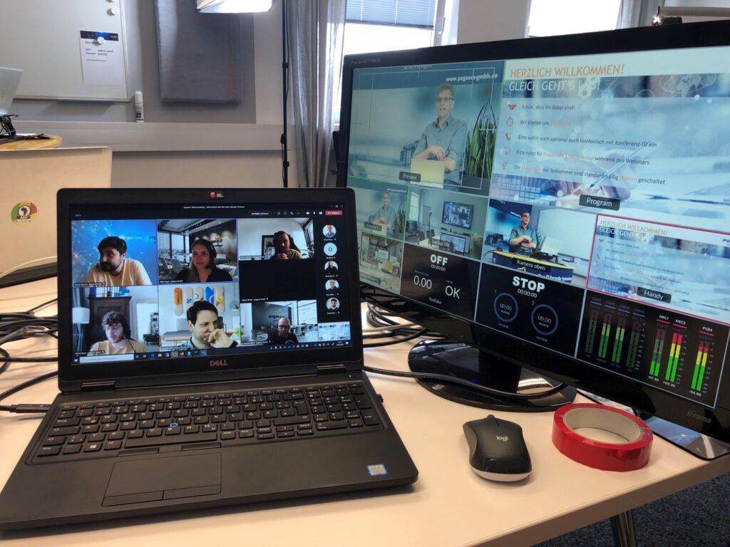Live-Stream Veranstaltungen mit Pegasus IQ